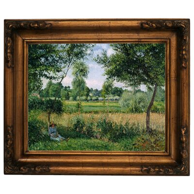 'Morning Sunlight Effect, Eragny 1899' by Camille Pissarro Framed Graphic Art Print on Canvas Size: 15.5