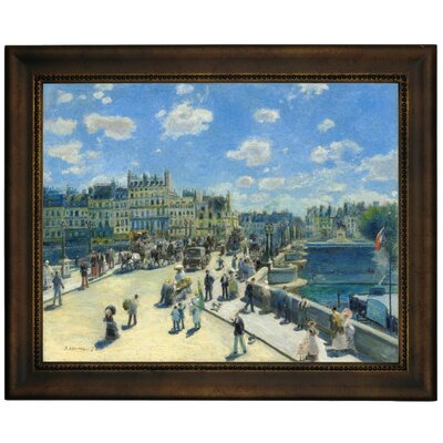 'Pont Neuf, Paris 1872' by Pierre-Auguste Renoir Framed Graphic Art Print on Canvas Size: 13.75