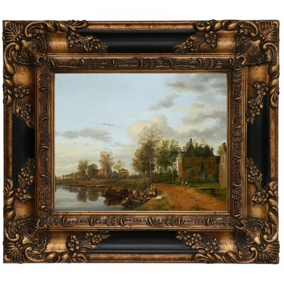 'Country House on the Vliet near Delft 1665' Framed Graphic Art Print on Canvas Size: 13.25