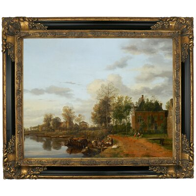 'Country House on the Vliet near Delft 1665' Framed Graphic Art Print on Canvas Size: 21.25