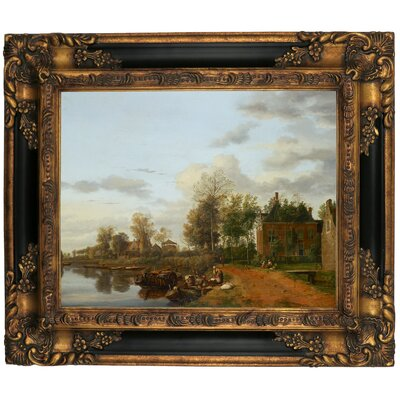'Country House on the Vliet near Delft 1665' Framed Graphic Art Print on Canvas Size: 16.25
