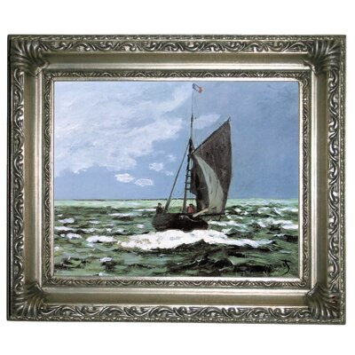 'Storm' by Claude Monet Framed Graphic Art Print on Canvas Size: 11