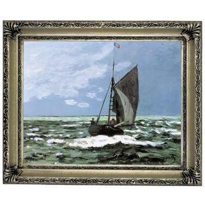 'Storm' by Claude Monet Framed Graphic Art Print on Canvas Size: 14