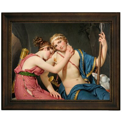 'The Farewell of Telemachus and Eucharis 1818' Framed Graphic Art Print on Canvas Size: 13.75