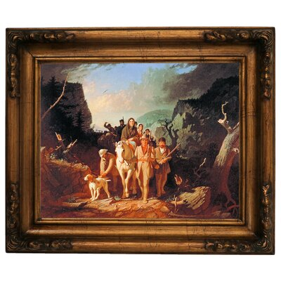 'Daniel Boone Escorting Settlers Through the Cumberland Gap' Framed Graphic Art Print on Canvas Size: 15.5