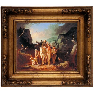 'Daniel Boone Escorting Settlers Through the Cumberland Gap' Framed Graphic Art Print on Canvas Size: 12.5