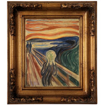 'The Scream 1910' by Edvard Munch Framed Graphic Art Print on Canvas Size: 14.5