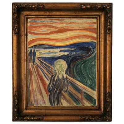 'The Scream 1910' by Edvard Munch Framed Graphic Art Print on Canvas Size: 19.5