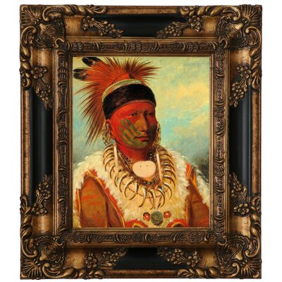 'The White Cloud, Head Chief of The Lowas 1844' Framed Graphic Art Print on Canvas Size: 15.25