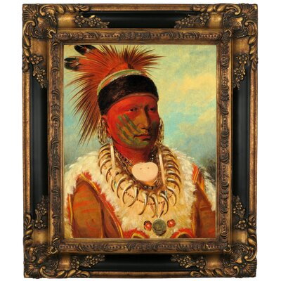 'The White Cloud, Head Chief of The Lowas 1844' Framed Graphic Art Print on Canvas Size: 19.25