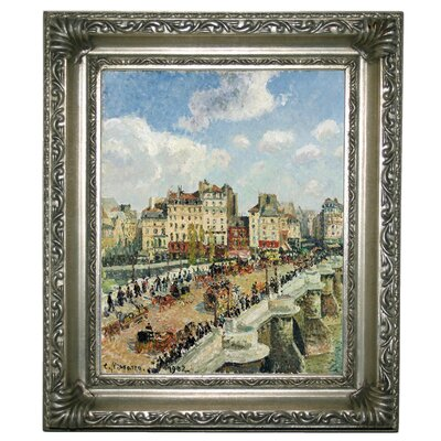 'The Pont-Neuf 1902' by Camille Pissarro Framed Graphic Art Print on Canvas Size: 17