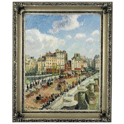 'The Pont-Neuf 1902' by Camille Pissarro Framed Graphic Art Print on Canvas Size: 13