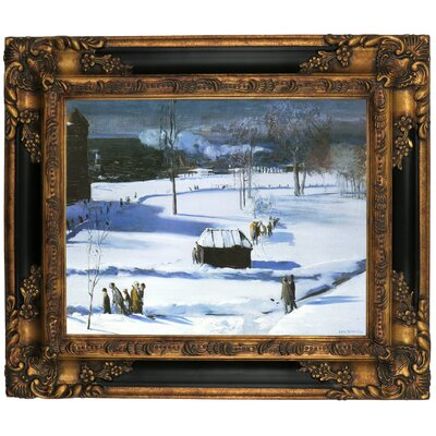 'Blue Snow, The Battery 1910' Framed Graphic Art Print on Canvas Size: 16.25