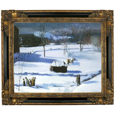 'Blue Snow, The Battery 1910' Framed Graphic Art Print on Canvas Size: 21.25