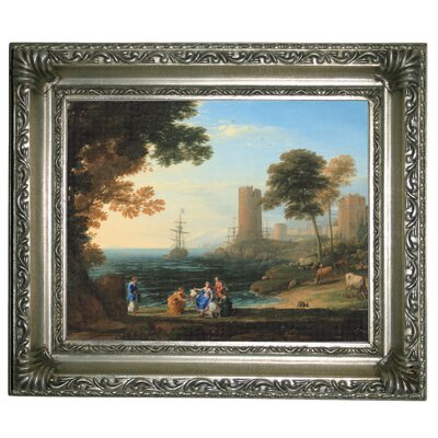 'Coast View with the Abduction of Europa 1645' Framed Graphic Art Print on Canvas Size: 11