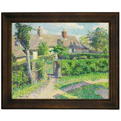 'Peasants Houses, Eragny 1887' by Camille Pissarro Framed Graphic Art Print on Canvas Size: 13.75