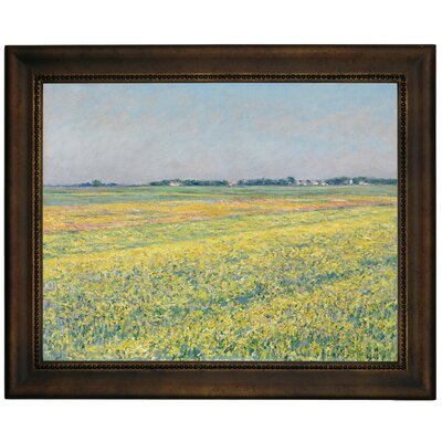 'The Plain of Gennevilliers Yellow Fields 1884' Framed Graphic Art Print on Canvas Size: 10.75