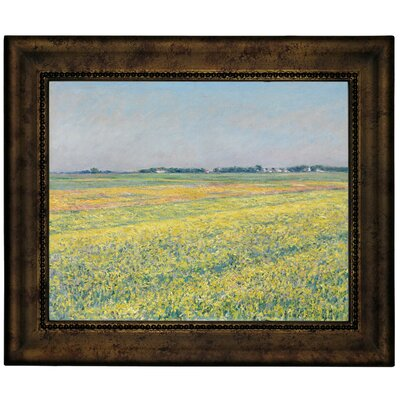 'The Plain of Gennevilliers Yellow Fields 1884' Framed Graphic Art Print on Canvas Size: 13.75