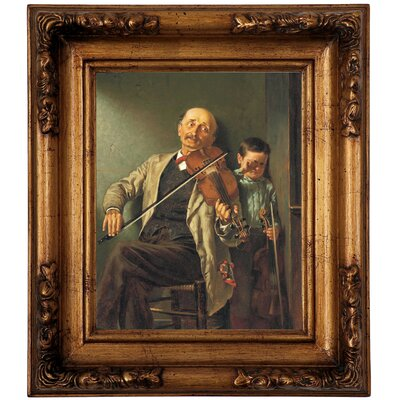 'The Duet 1882' Framed Graphic Art Print on Canvas Size: 12.75