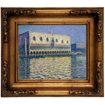 'The Doges Palace 1908' by Claude Monet Framed Graphic Art Print on Canvas Size: 12.5