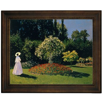 'Women in the Garden 2' by Claude Monet Framed Graphic Art Print on Canvas Format: Bronze Frame, Size: 13.75