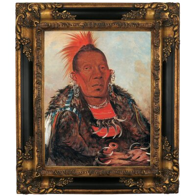 'Wah-ro-noe-sah, The Surrounder, Chief of the Tribe 1832' Framed Oil Painting Print on Canvas ATGD7805 41433648