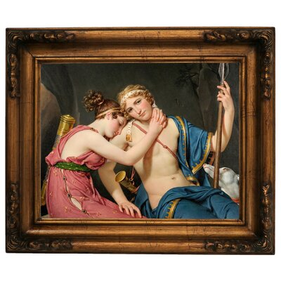 'The Farewell of Telemachus and Eucharis 1818' Framed Graphic Art Print on Canvas Size: 15.5