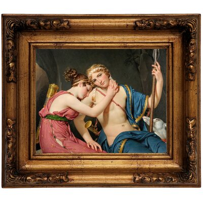 'The Farewell of Telemachus and Eucharis 1818' Framed Graphic Art Print on Canvas Size: 12.5