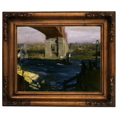 'The Bridge, Blackwells Island 1909' Framed Graphic Art Print on Canvas Size: 15.5