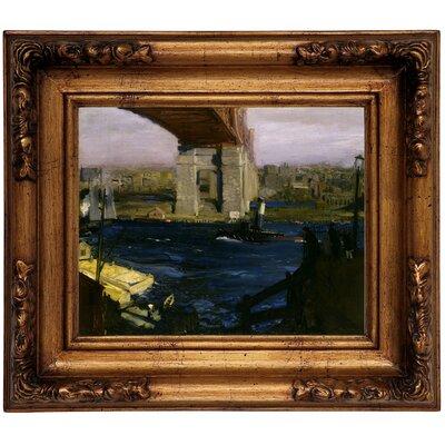 'The Bridge, Blackwells Island 1909' Framed Graphic Art Print on Canvas Size: 12.5