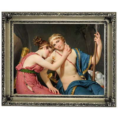 'The Farewell of Telemachus and Eucharis 1818' Framed Graphic Art Print on Canvas Size: 14