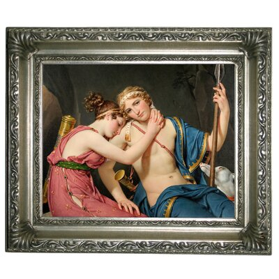 'The Farewell of Telemachus and Eucharis 1818' Framed Graphic Art Print on Canvas Size: 10.75