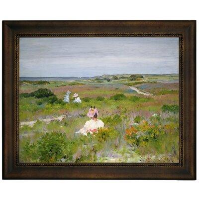 'Landscape Shinnecock Long Island 1896' Framed Graphic Art Print on Canvas Format: Bronze Frame, Size: 10.75