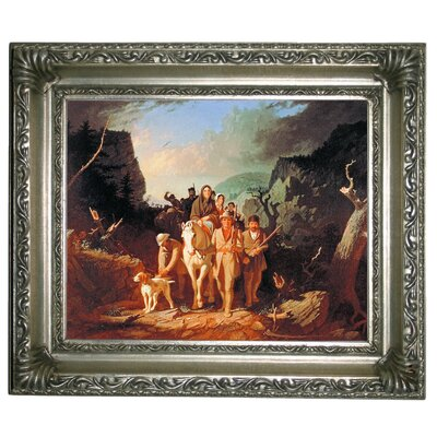 'Daniel Boone Escorting Settlers Through the Cumberland Gap' Framed Graphic Art Print on Canvas Size: 11