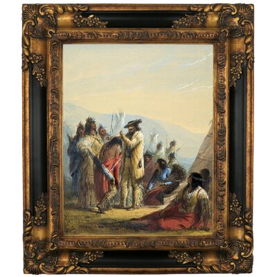 'Presents to Indians 1858' Graphic Art Print on Canvas Size: 19.25