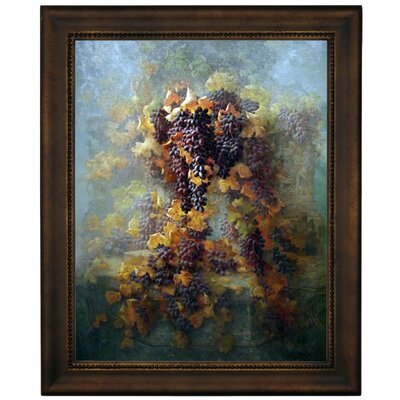 'Grapes and Architecture 1907' Framed Graphic Art Print on Canvas Size: 12.75