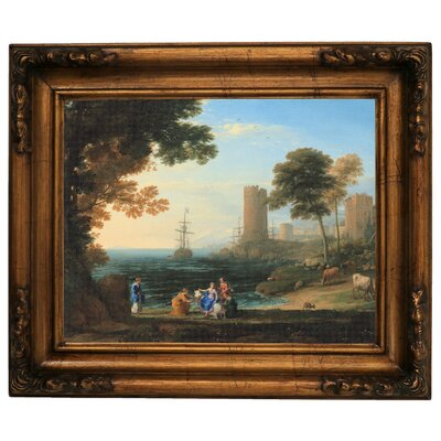 'Coast View with the Abduction of Europa 1645' Framed Graphic Art Print on Canvas Size: 15.5