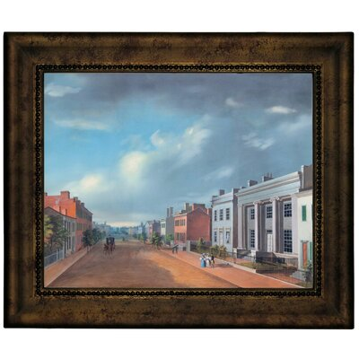 'Cincinnati Fourth Street East From Vine 1835' Framed Graphic Art Print on Canvas Size: 10.75