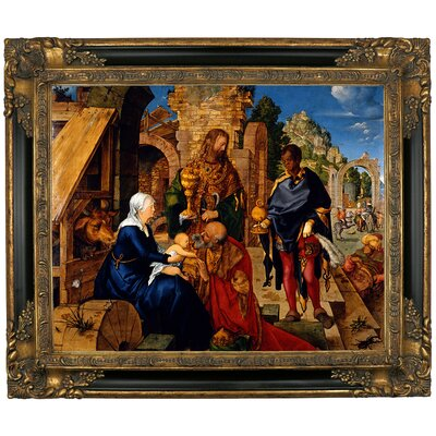 'The Adoration of the Magi 1504' Framed Graphic Art Print on Canvas Size: 13.25