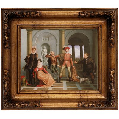 'Scene from Shakespeares The Taming of the Shrew' Framed Graphic Art Print on Canvas Size: 12.5