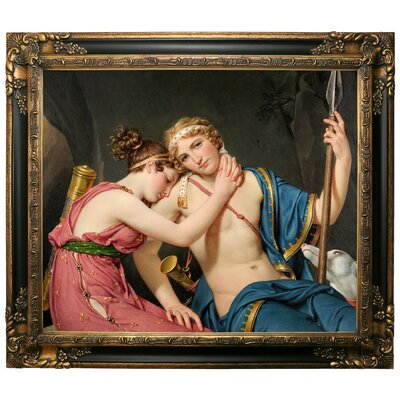 'The Farewell of Telemachus and Eucharis 1818' Framed Graphic Art Print on Canvas Size: 25.25