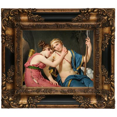 'The Farewell of Telemachus and Eucharis 1818' Framed Graphic Art Print on Canvas Size: 13.25