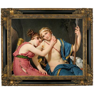 'The Farewell of Telemachus and Eucharis 1818' Framed Graphic Art Print on Canvas Size: 21.25