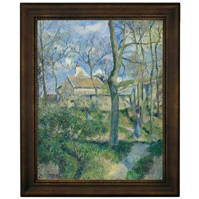 'The Path to Les Pouilleux Pontoise 1881' by Camille Pissarro Framed Graphic Art Print on Canvas Size: 16.75