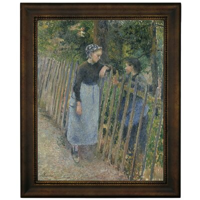 'Conversation 1881' Framed Graphic Art Print on Canvas Size: 16.75