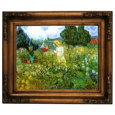 'Marguerite Gachet in the Garden' by Vincent van Gogh Graphic Art Print Framed on Canvas Size: 10.75
