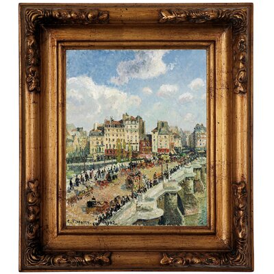 'The Pont-Neuf 1902' by Camille Pissarro Framed Graphic Art Print on Canvas Size: 19.5