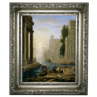 'Embarkation of St Paula' Framed Graphic Art Print on Canvas Size: 13