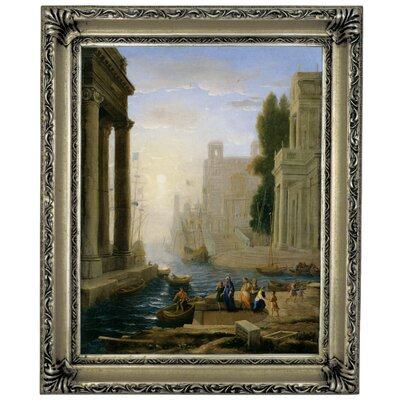 'Embarkation of St Paula' Framed Graphic Art Print on Canvas Size: 17