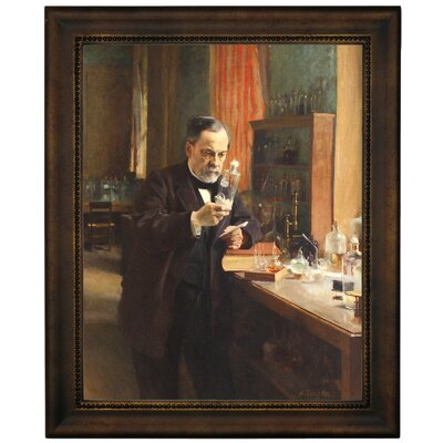 'Portrait of Louis Pasteur in his Laboratory 1885' Framed Graphic Art Print on Canvas Size: 16.75